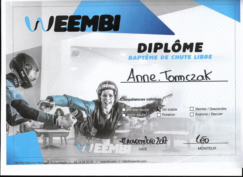 Weembi Lesquin diplome