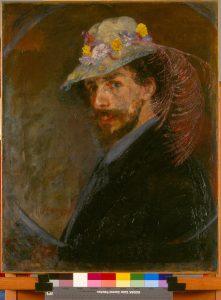 muzee-ostende-autoportrait-ensor-chapeau-fleuri