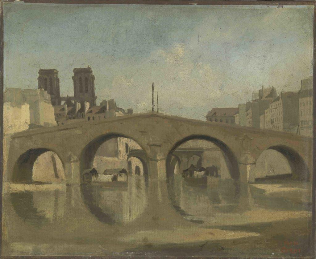 Beauvais-musee-de-loise-MUDO-Paris-le-vieux-pont-Saint-Michel-Camille-corot