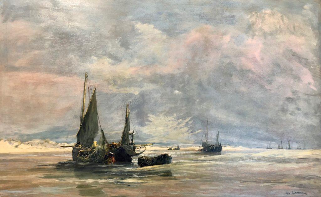 Berck-sur-mer-musee-opale-sud-jan-lavezzari-bateaux-a-lechouage