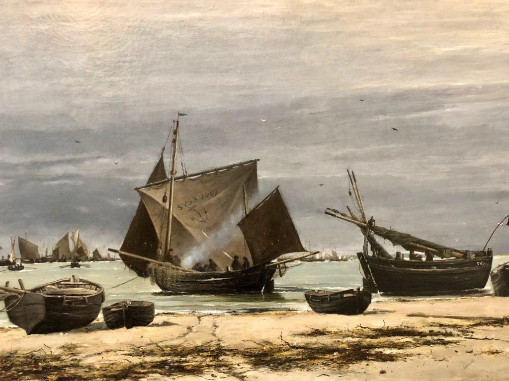Berck-sur-mer-musee-opale-sud-ludovic-napoleon-lepic-le-retour-maree-basse