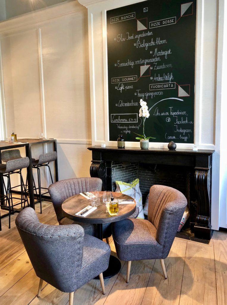 Salle restaurant Amuni Bruges Belgique