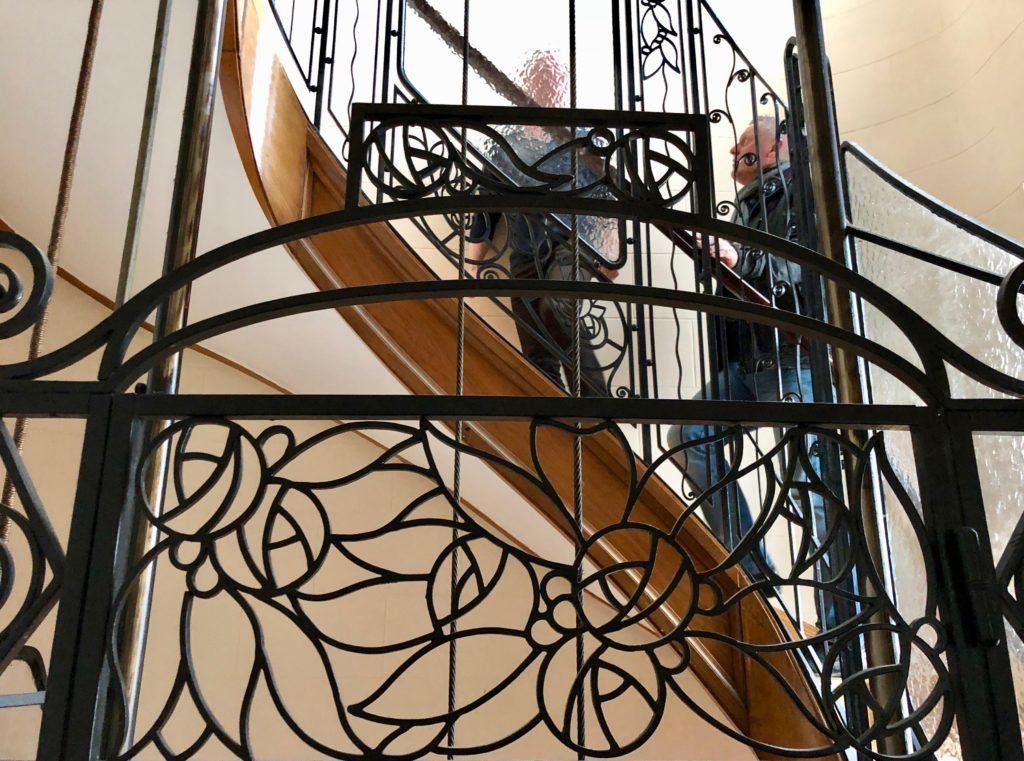 Cage d'escalier maison d'hôtes À un train d'ici Tournai Belgique
