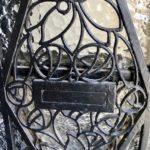 Détail fer forgé porte - maison d'hôtes À un train d'ici - Tournai Belgique