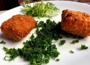 Croquettes au parmesan - restaurant De Koetse Bruges Belgique