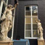 Décor brique grise - au bar L'Hermitage à l'hôtel Gantois Lille