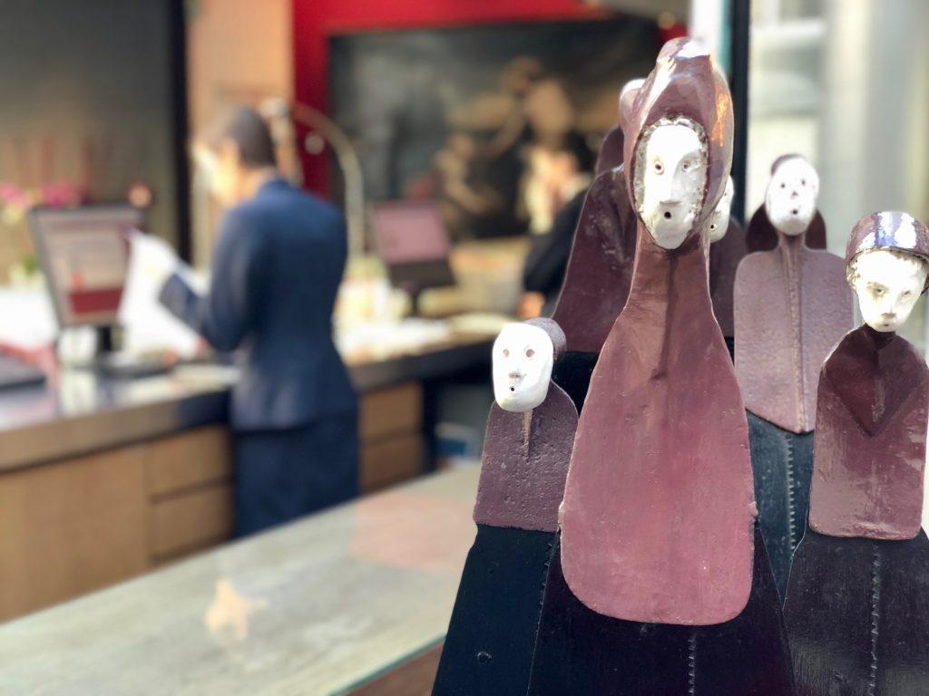Oeuvre d'art contemporaine - au bar L'Hermitage de l'hôtel Gantois de Lille