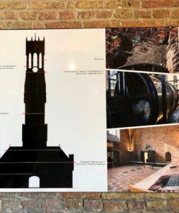 Beffroi de Bruges Belgique - coupe du monument à l'intérieur