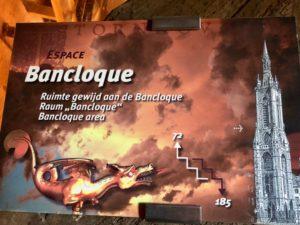 Panneau espace Bancloque - beffroi de Tournai