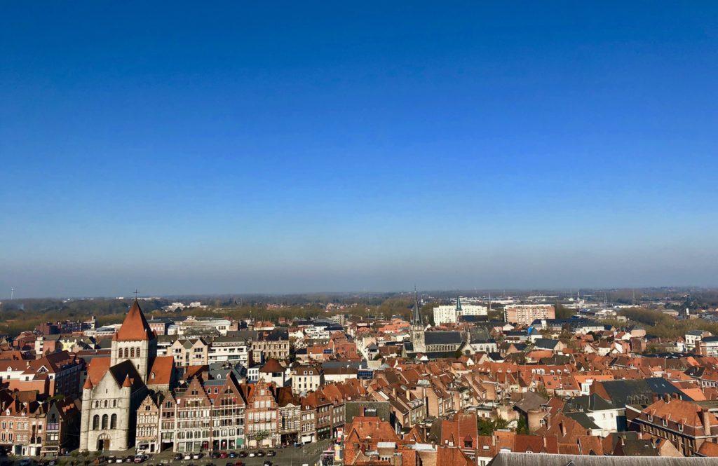 Panorama du sommet - beffroi de Tournai Belgique