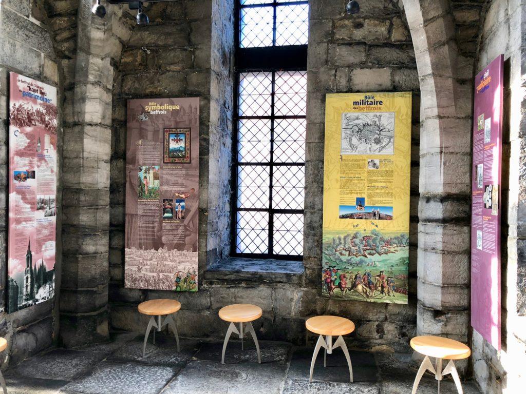 Beffroi de Tournai Belgique - salle du premier étage