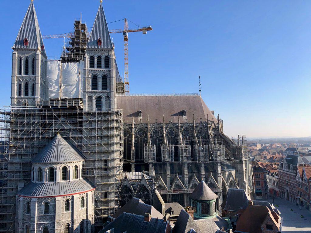 Vue sur la cathédrale du beffroi de Tournai - premier étage