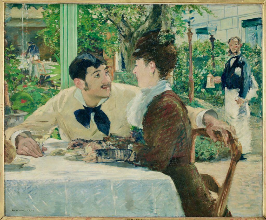 Chez le père Lathuille Edouard Manet musée Beaux-Arts Tournai Belgique
