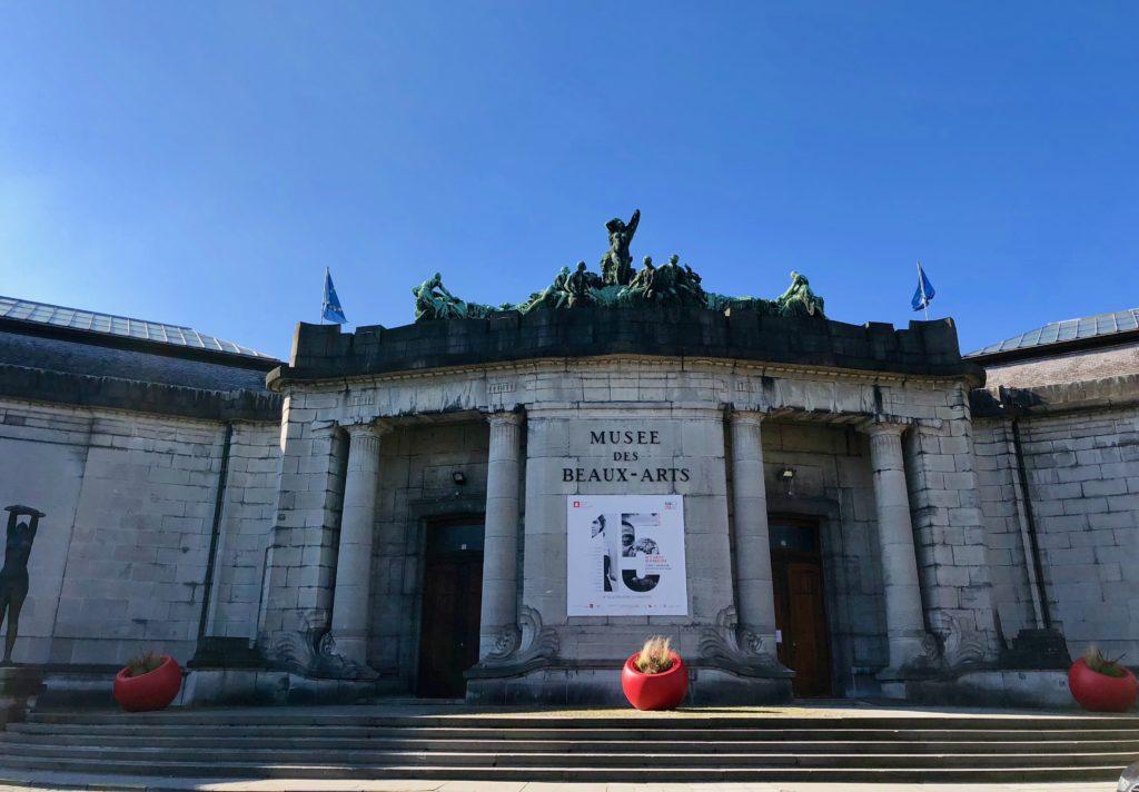 Façade musée des Beaux-Arts de Tournai Belgique