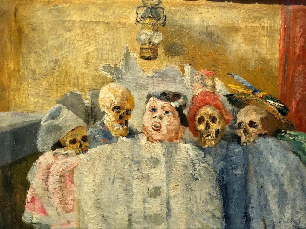 Pierrot et squelettes James Ensor musée des Beaux-Arts Tournai Belgique