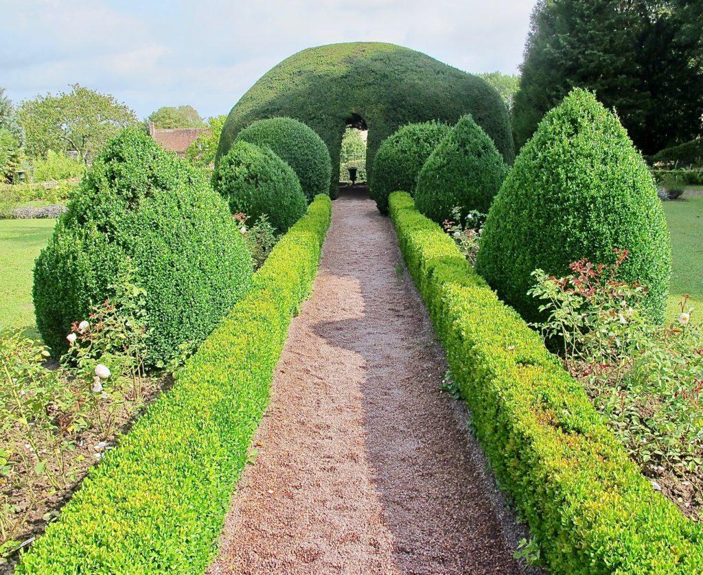 Allée menant à if igloo - Jardin des ifs Gerberoy Oise