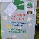 Panneau entrée Jardin des ifs Gerberoy Oise