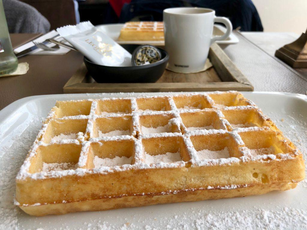 Gaufre au sucre - Tea-room Leopold 1 - La Panne Belgique