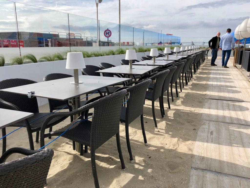 Terrasse sur la plage du Leopold 1 - La Panne Belgique