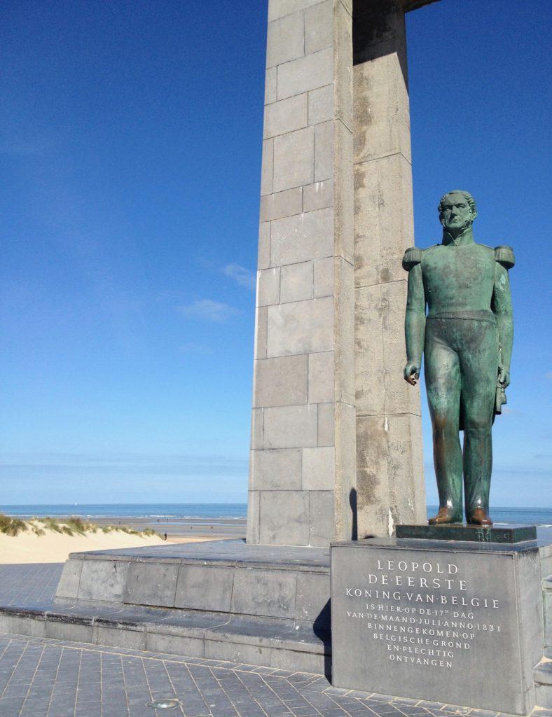 La Panne Belgique - Monument Leopold 1er sur la digue