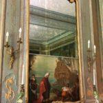 Château Condé-en-Brie - salon vert détail miroir escamotable