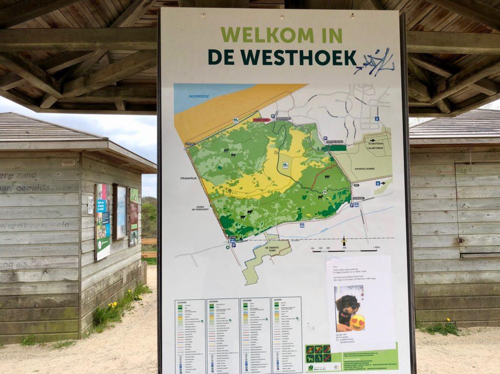Entrée réserve naturelle Westhoek La Panne Belgique