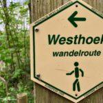 Panneau Westhoek réserve naturelle La Panne Belgique