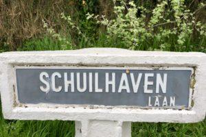 Panneau de rue Schuilhavenlaan à La Panne Belgique