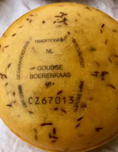 Fromage fermier au lait cru avec étiquette - Gouda Pays-Bas
