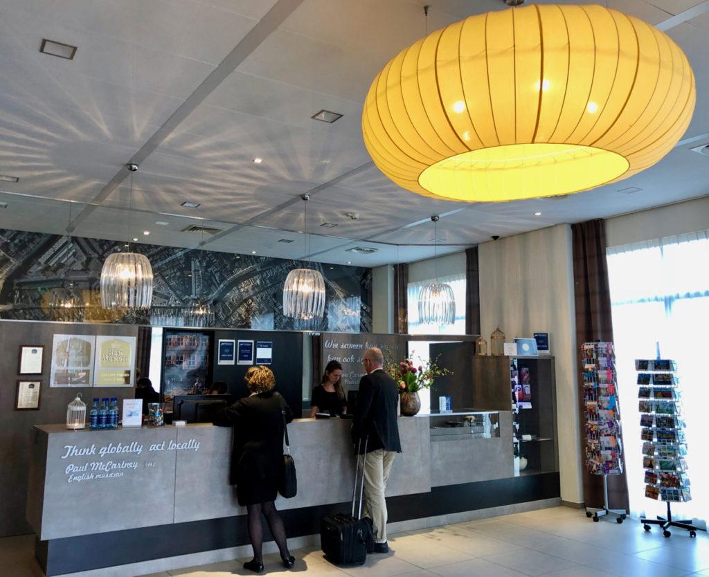 Réception hôtel Best Western - Gouda Pays-Bas