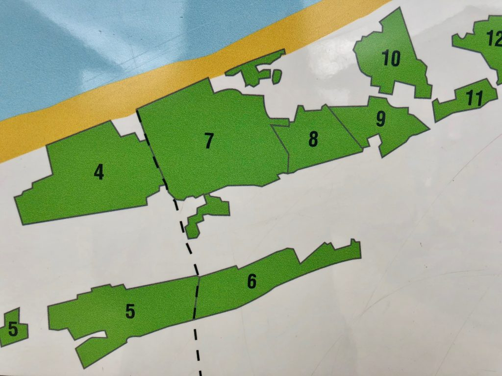 Plan du massif dunaire transfrontalier du bord de la mer du Nord