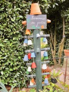 Totem Bienvenue au jardin Herbarium Saint-Valery-sur-Somme