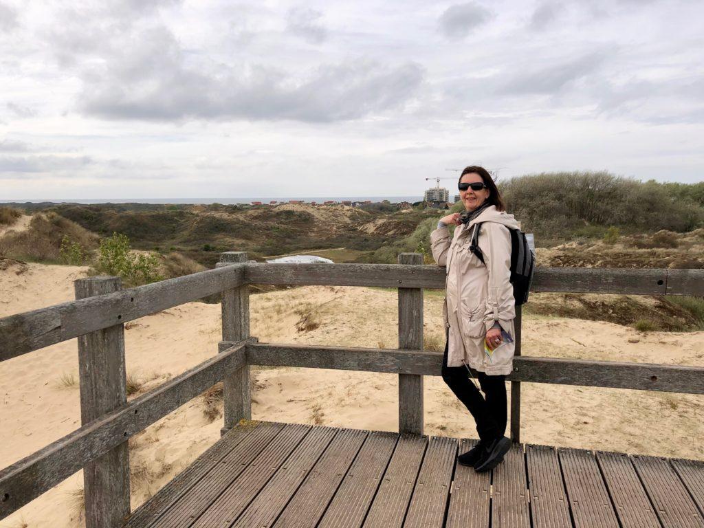 En haut du site panoramique de la réserve naturelle du Westhoek La Panne Belgique