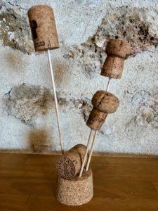 Bouchons de champagne de la Maison Fleury-Gille dans l'Aisne