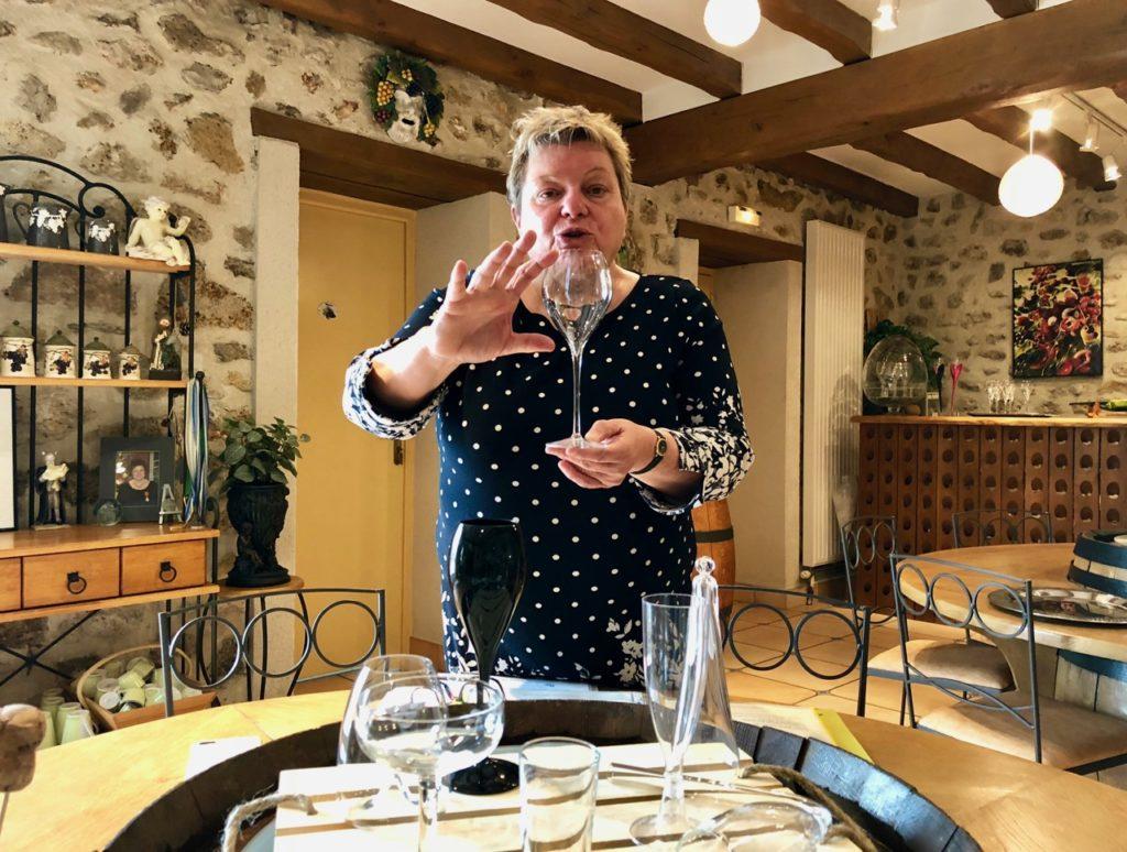 Pendant le cours champagne de Dominique Fleury à Trélou-sur-Marne