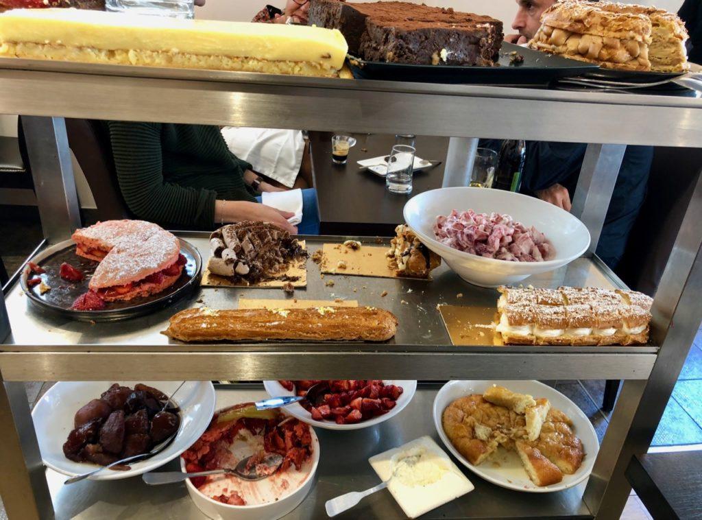 Chariot desserts - Sylvain Suty restaurant Dormans Marne