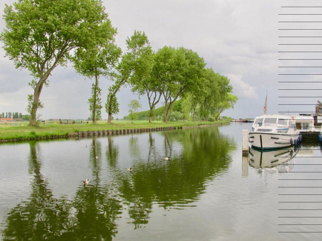 Belgique Nieuport Canal passendale balade sous les arbres
