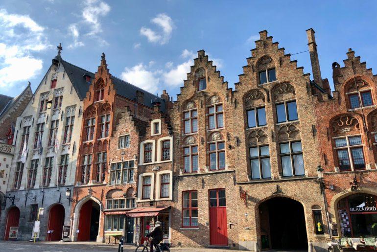 Belles façades Bruges Belgique