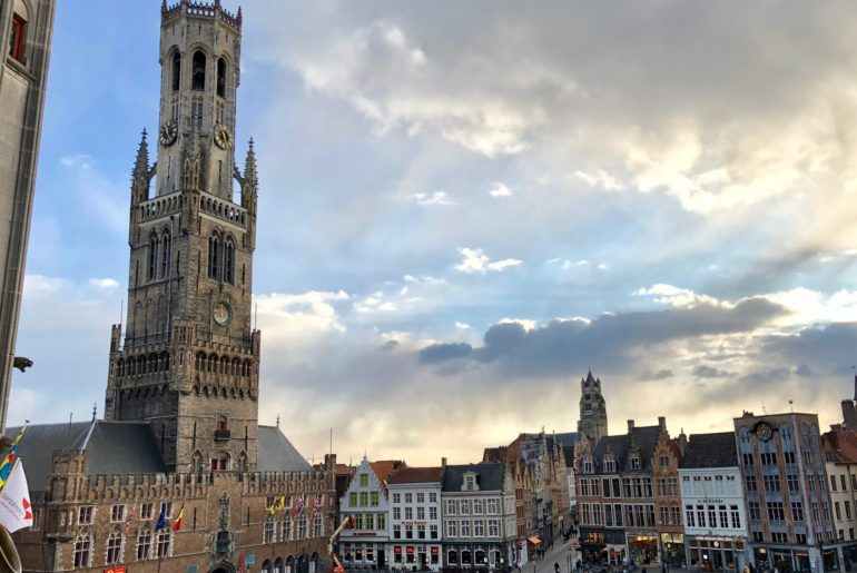 Befroi de Bruges Belgique - sur le Markt