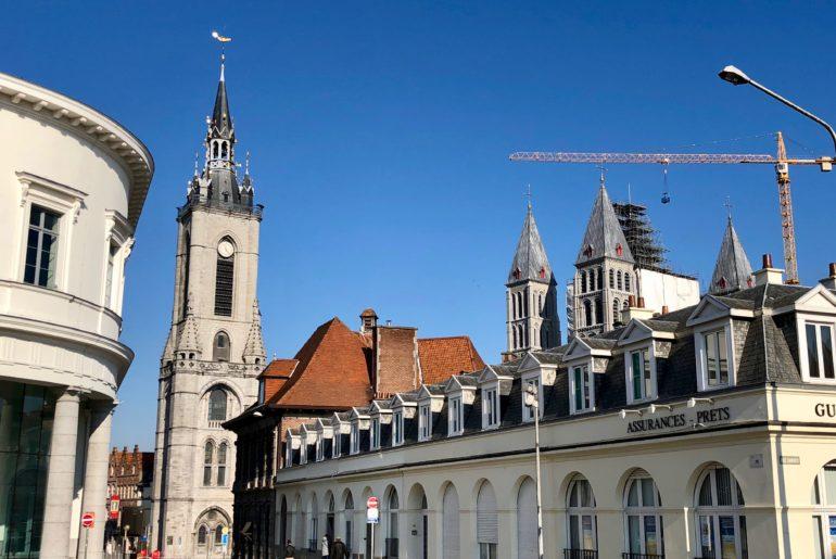 Beffroi de Tournai Belgique extérieur