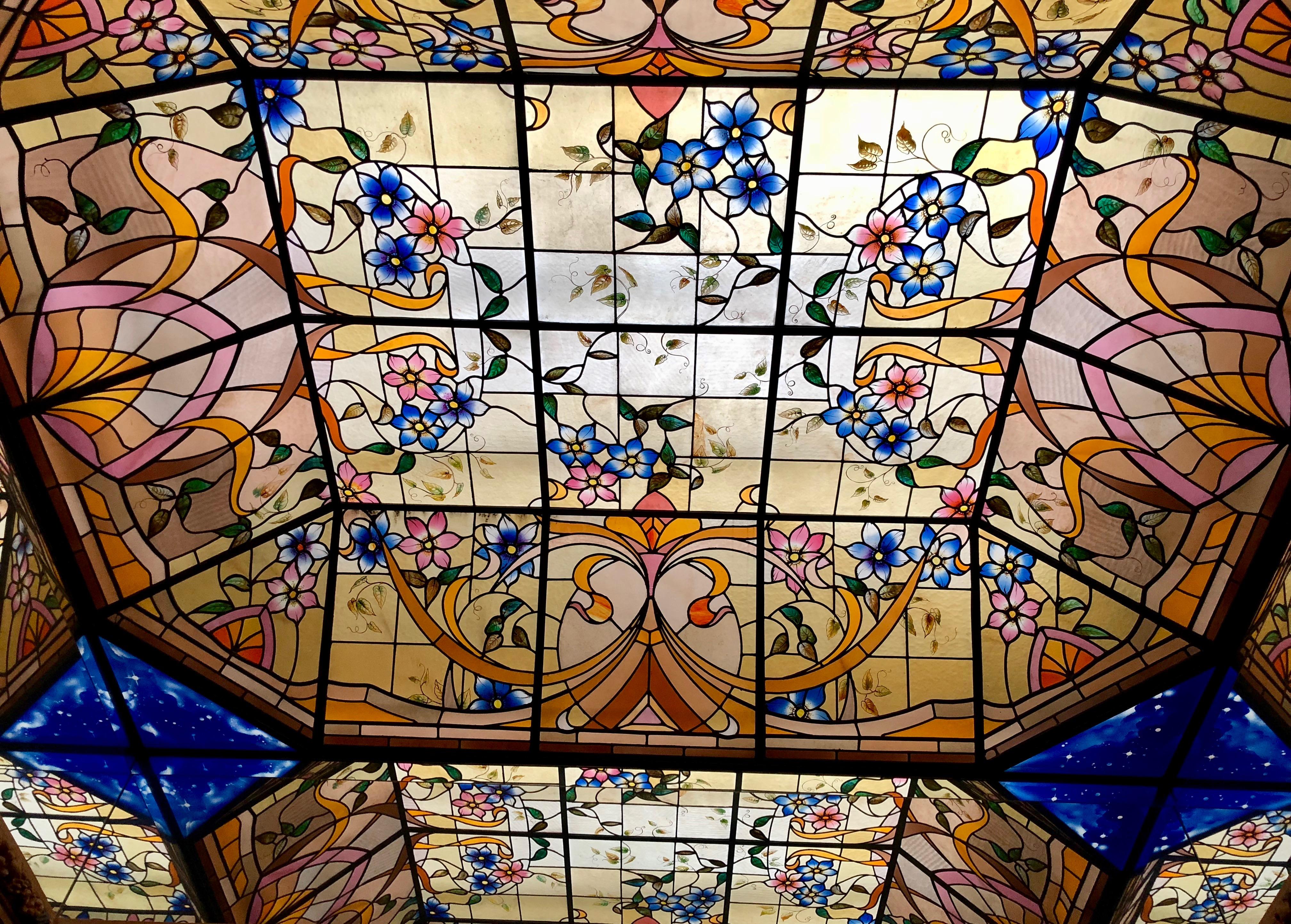 Esprit Art Deco Com vitrail esprit art nouveau grand café de l'univers saint
