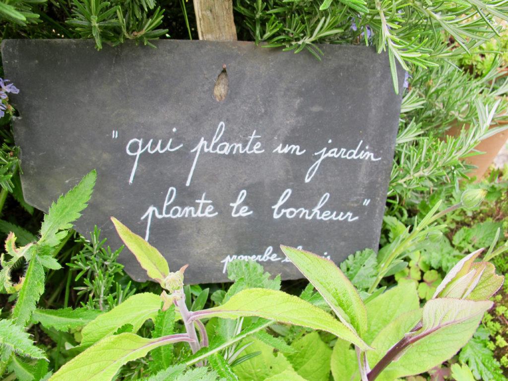 Panneau QUi plante un jardin - Herbarium Saint-Valery-sur-Somme