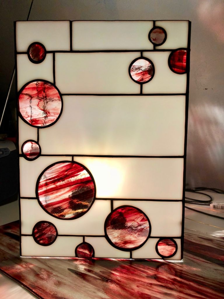 Verronimo lampe Art deco rouge