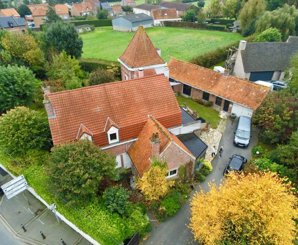 Godewaersvelede-Monts-et-Merveilles-maison-hotes-vue-drone-automne