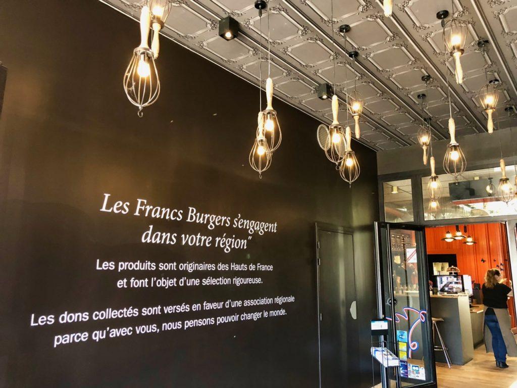 Les Francs Burgers Arras entrée