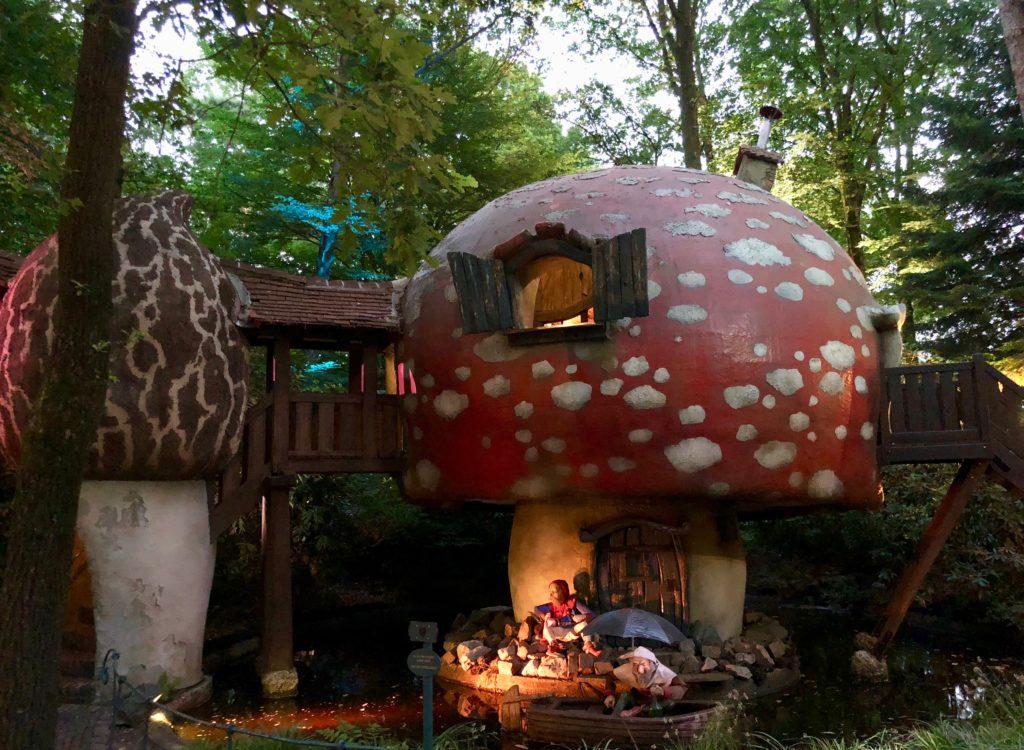 Parc Efteling bois contes champignons