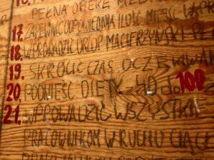 Pologne Gdansk ECS musee Solidarnosc panneaux bois greve chantiers navals