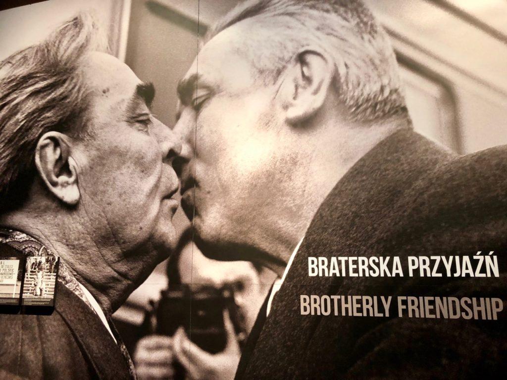 Pologne Gdansk ECS musee Solidarnosc photo baiser Brejnev