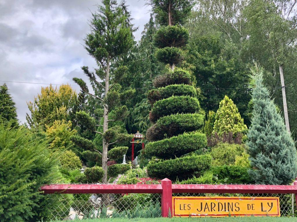 Jardins de Ly Sénarpont Somme - panneau entrée