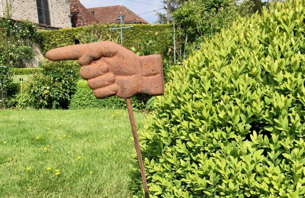 Jardins de Viels-Maisons - panneau doigt